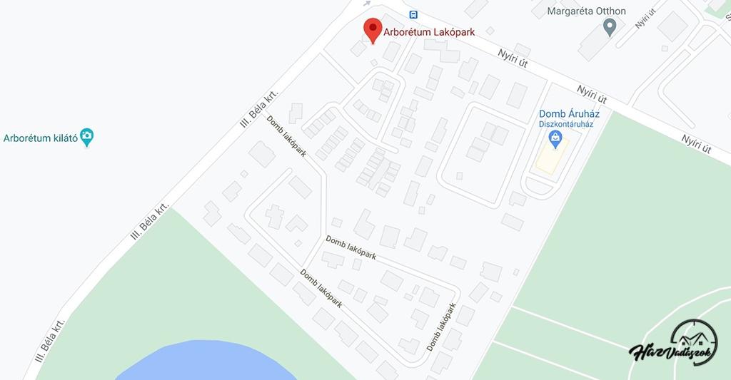 Kecskemét, Arborétum lakópark térképen