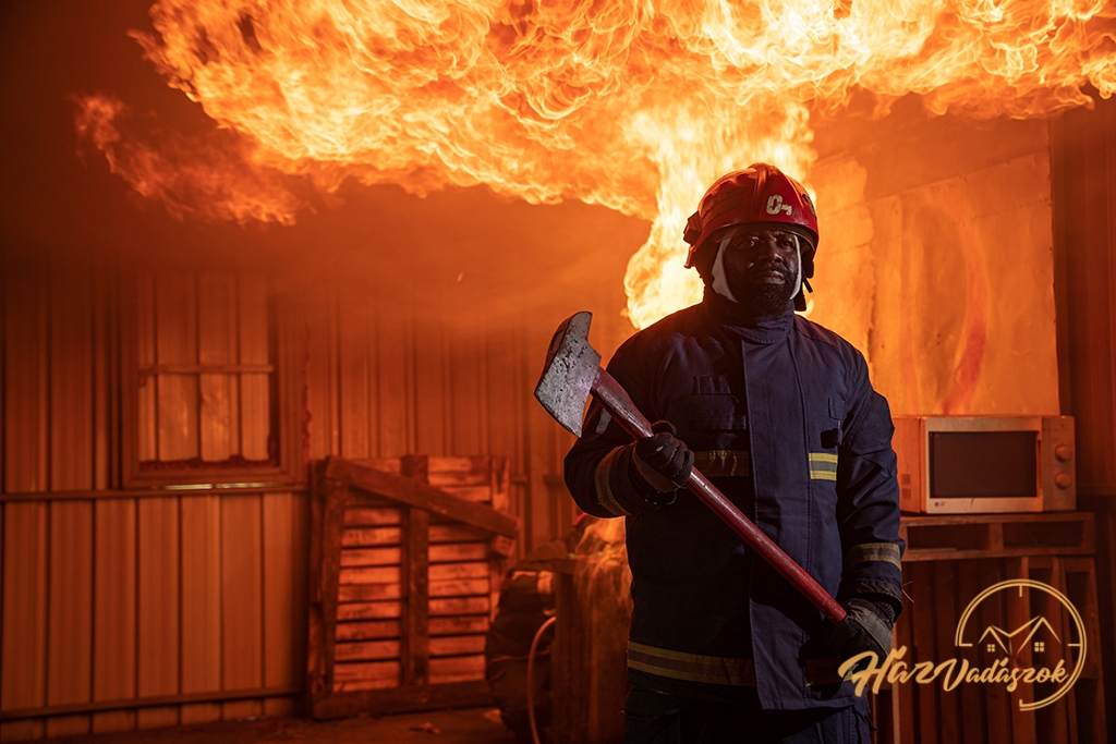 tűz a faházban