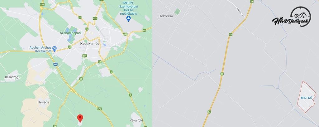 Kecskemét, Matkó térképen